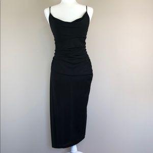 Diane Von Furstenberg Black Slip Dress (Small)